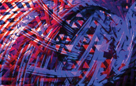 Abstract Artistry: Senior fills 22-foot gallery