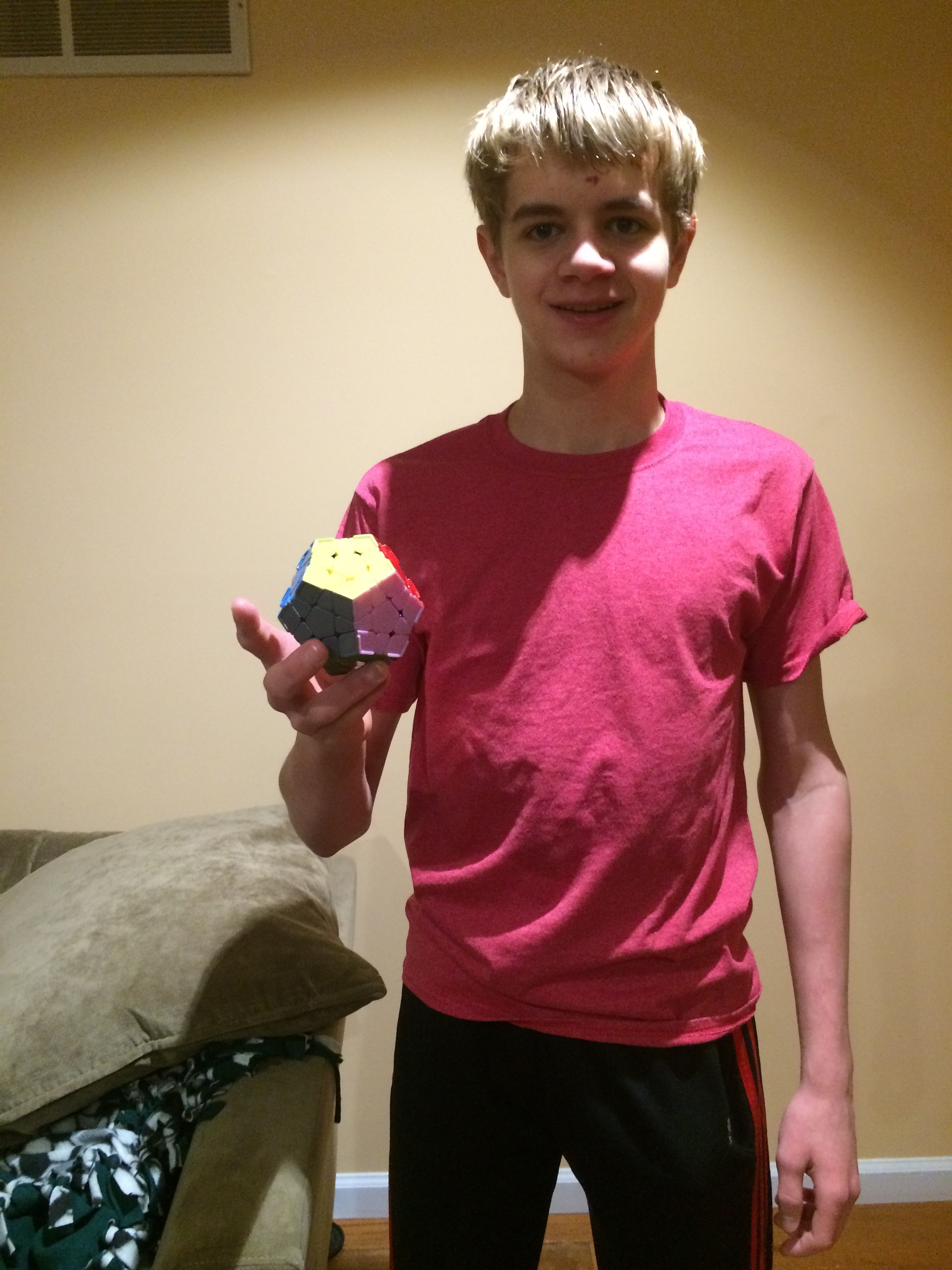Matt Stephens with his amazing rubix cube. Photo by Ben Kraizer