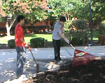 Students work to 'beautify' school