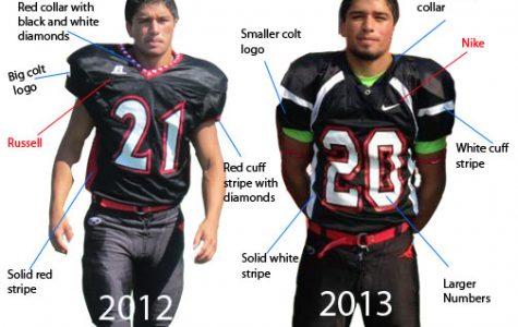 Varsity football to sport new uniforms for 2013 season