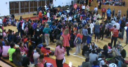 Breaking News: Middle School in Gym A due to power outage