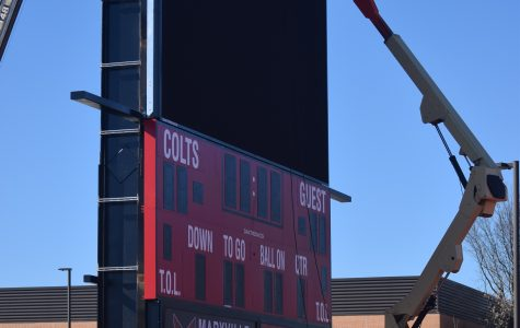 Work Advances on New Scoreboard