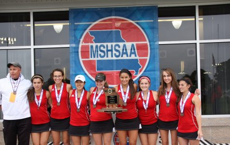 Tennis team places third in state