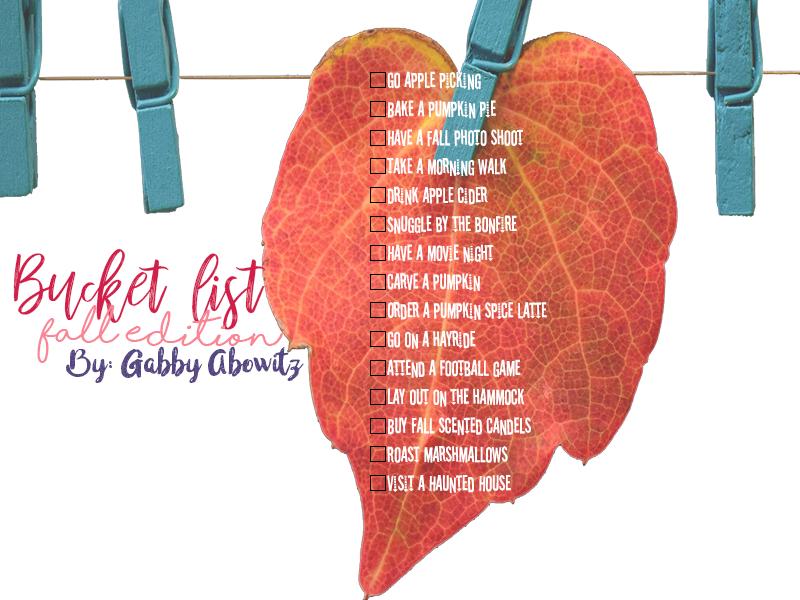 Bucket List: Fall Edition