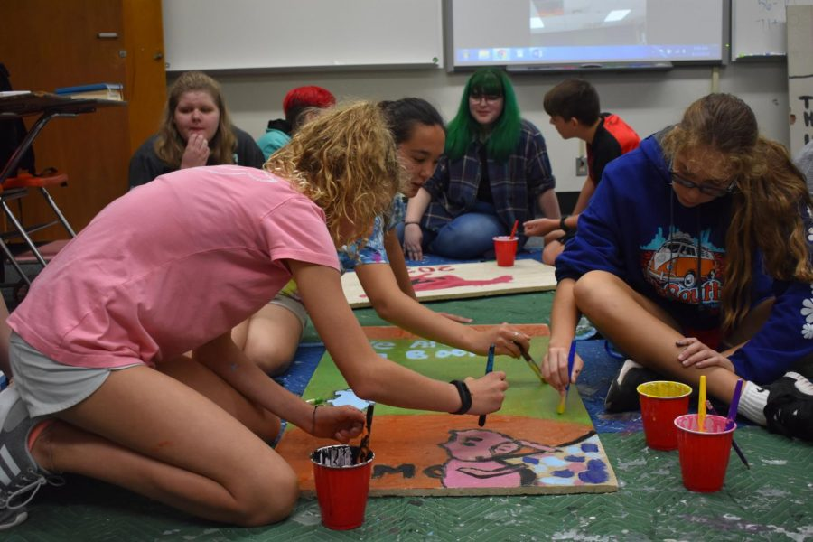 Ceiling Tiles Bring New Life To Class