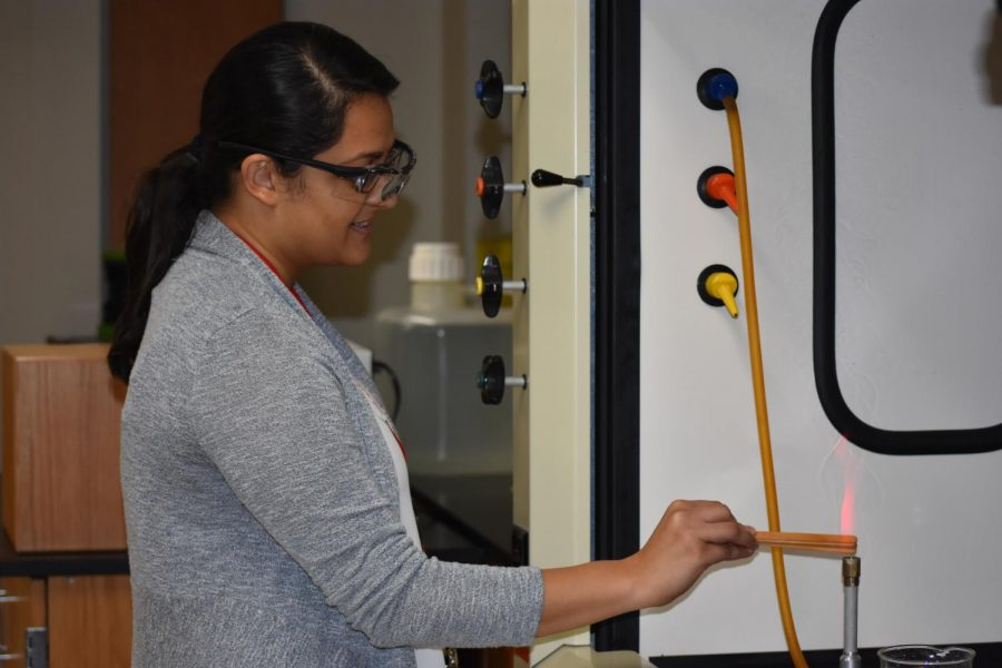Rupal Patel teaches science on September 26.