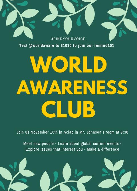 WORLD AWARENESS CLUB RETURNS