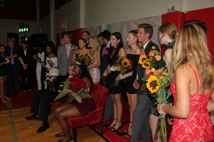 This years homecoming court gets recognized at the dance.