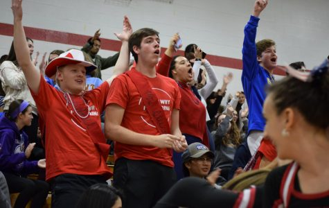 Students Cheer at Winter Pep Rally