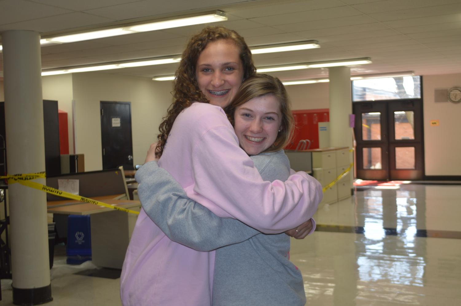 Jadyn Wallis and Sophie Lowis are big and little sisters.