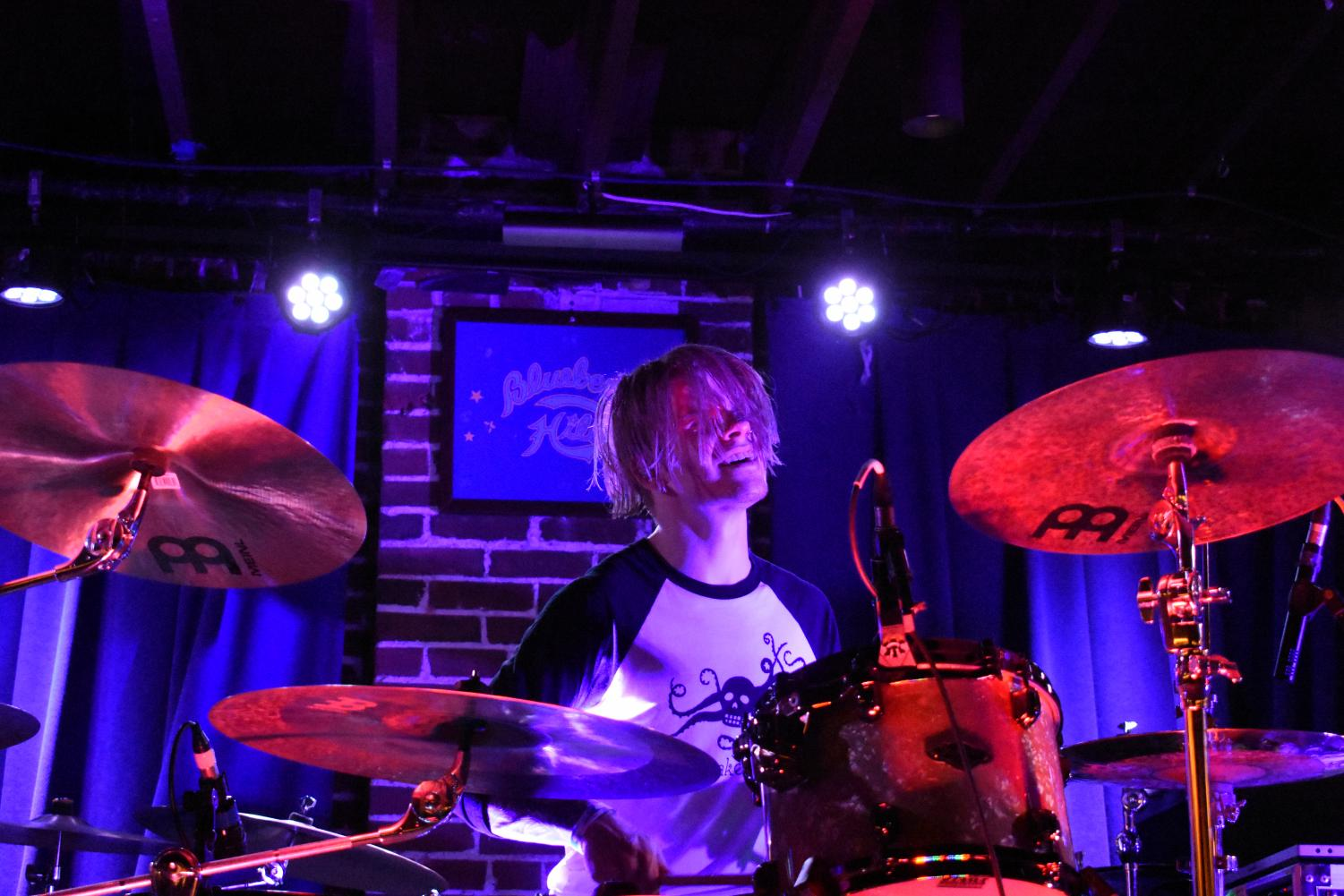 Scuzz's Drummer rocking out at The Duck Room.