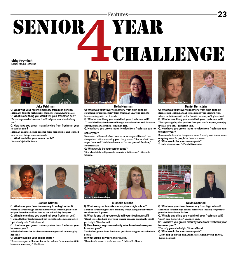 Senior 4 Year Challenge