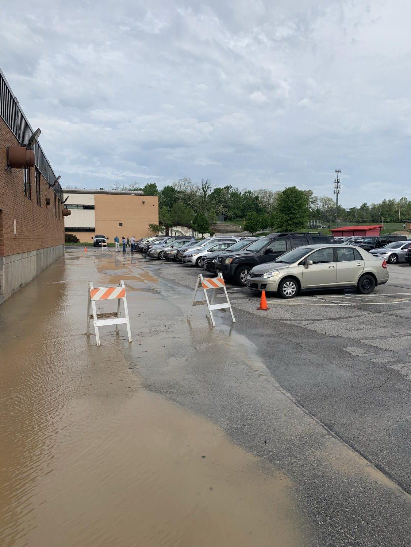 Water main break.