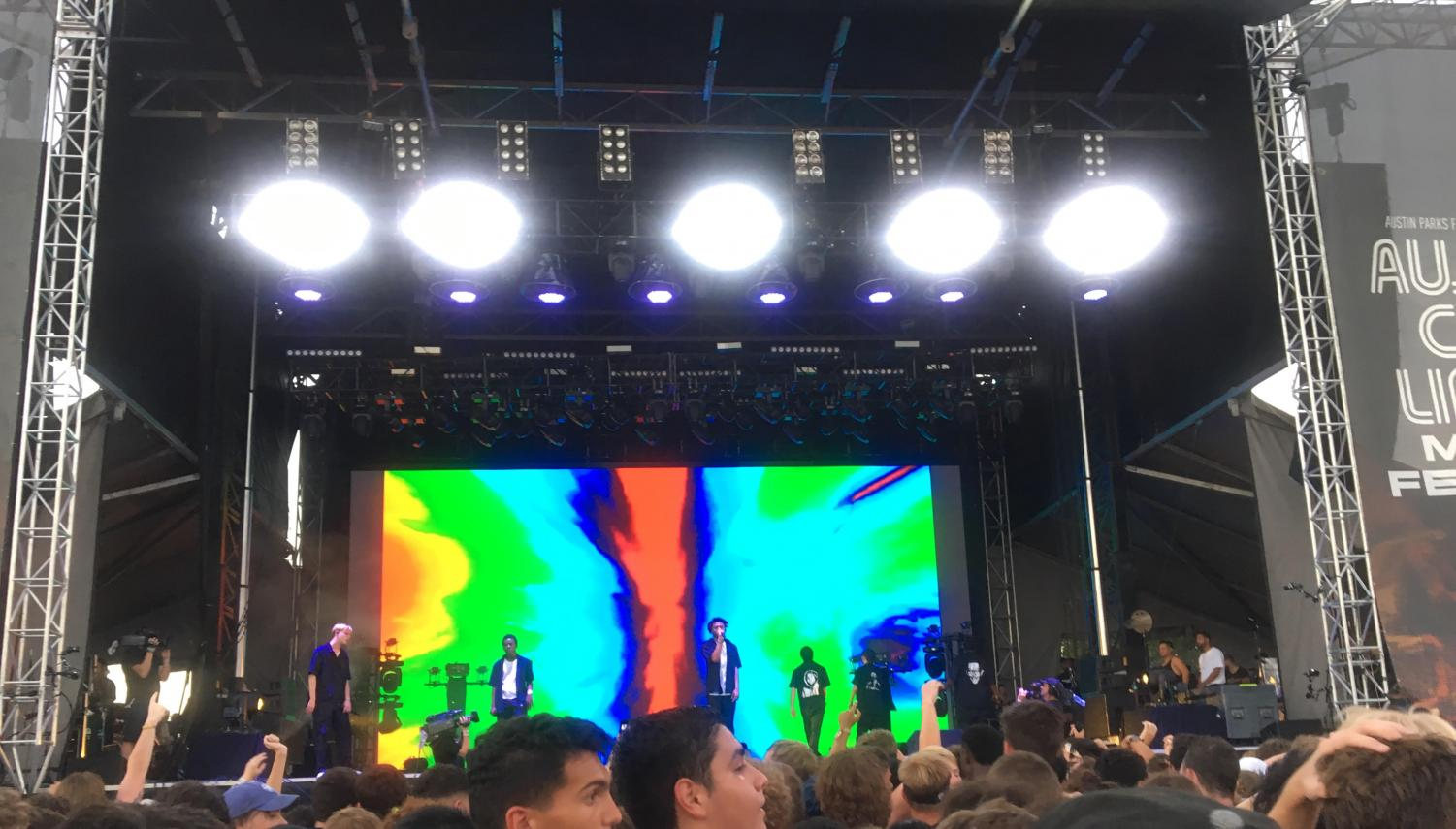 Stage at the Austin City Limits Music Festival. Brockhampton was on stage. Photo courtesy of Kaitlyn Goldstein.
