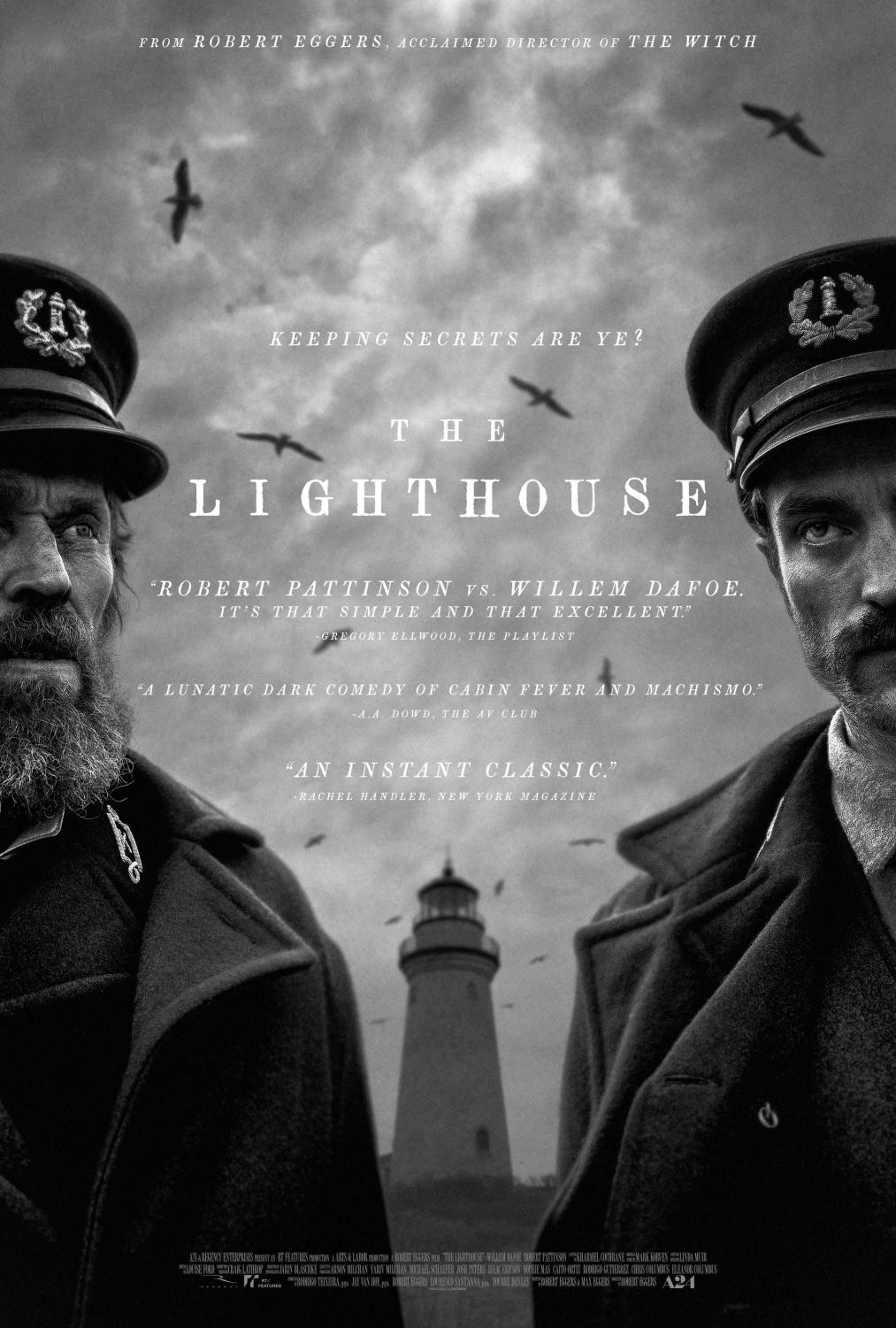 Second poster for 'The Lighthouse', directed by Roger Eggers, coming out October 18. Starring Robert Pattinson and Willem Dafoe, 'The Lighthouse' is the movie to look out for this fall.