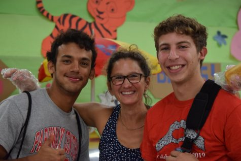 Adi Sarangee, Mrs.Klein, and Zach Oppenheim at Taste Of The Town on September 12.