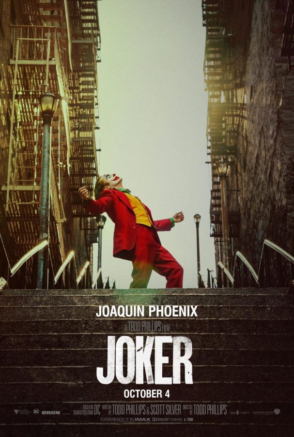 The+%22Joker%22+poster.+The+movie+released+on+Oct.+4+and+made+%2493.5+million+in+the+U.S.+and+%24234+million+world+wide+in+its+opening+weekend%2C+breaking+numerous+records+such+as+the+highest+gross+for+an+R-rated+movie+as+well+as+the+highest+gross+for+an+October+opener.