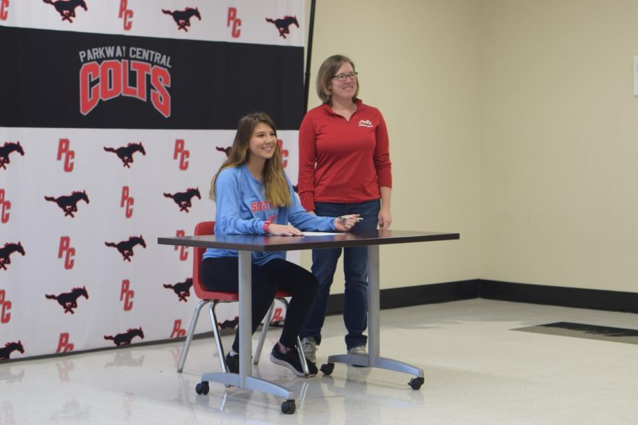 Senior Brooke Lierman signed to Florida Southern for a full sports scholarship.