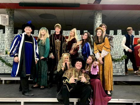PCH students killing the stage at Madrigal Dinner.