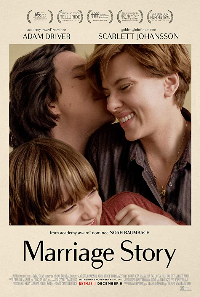 Marriage Story, released December 6th to Netflix, is a favorite for the Best Picture win.