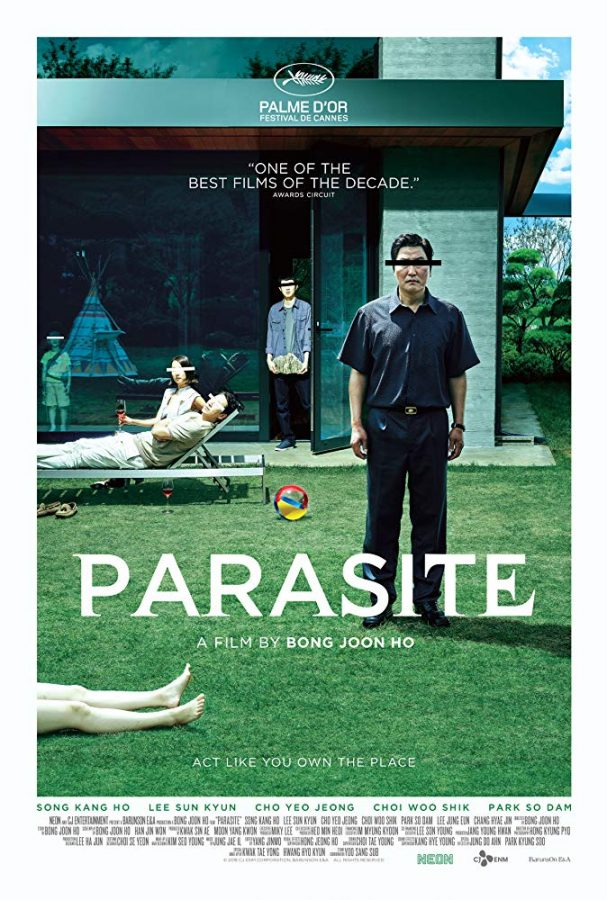 Parasite stars Cho Yeo-jeong, Park So-dam, Choi Woo-shik, and Kang-Ho Song as the Kim family.This is the only foreign film nominated for Best Picture.