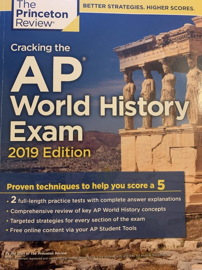 The Princeton review book for the AP World History Exam.