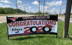 Parkway Central High teachers delivered signs and t-shirts to seniors, and admin put this banner sign up to honor seniors.
