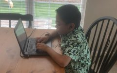 Dexter Wong goes to his fifth grade class at Shenandoah Valley Elementary online.