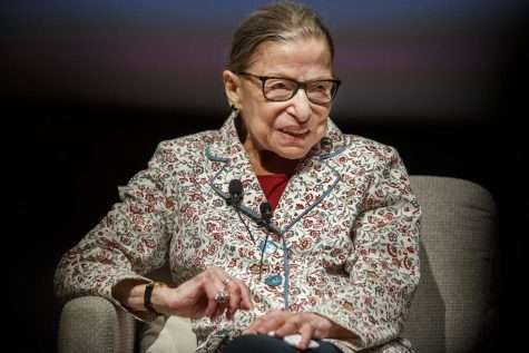 Supreme Court Jusitice Ruth Bader Ginsburg attends a public conversation at the University of Chicago on September 9, 2019, in Chicago.