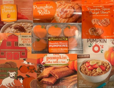 Some of the pumpkin flavored items that Trader Joes is offering this fall season.