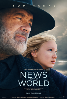 """News of the World"" is directed by Paul Greengrass and stars Tom Hanks and Helena Zengel. Taking place in the American South soon after the Civil War, this film is about traveling newsreader Captain Jefferson Kyle Kidd after he finds a young girl, Johanna, without a home."
